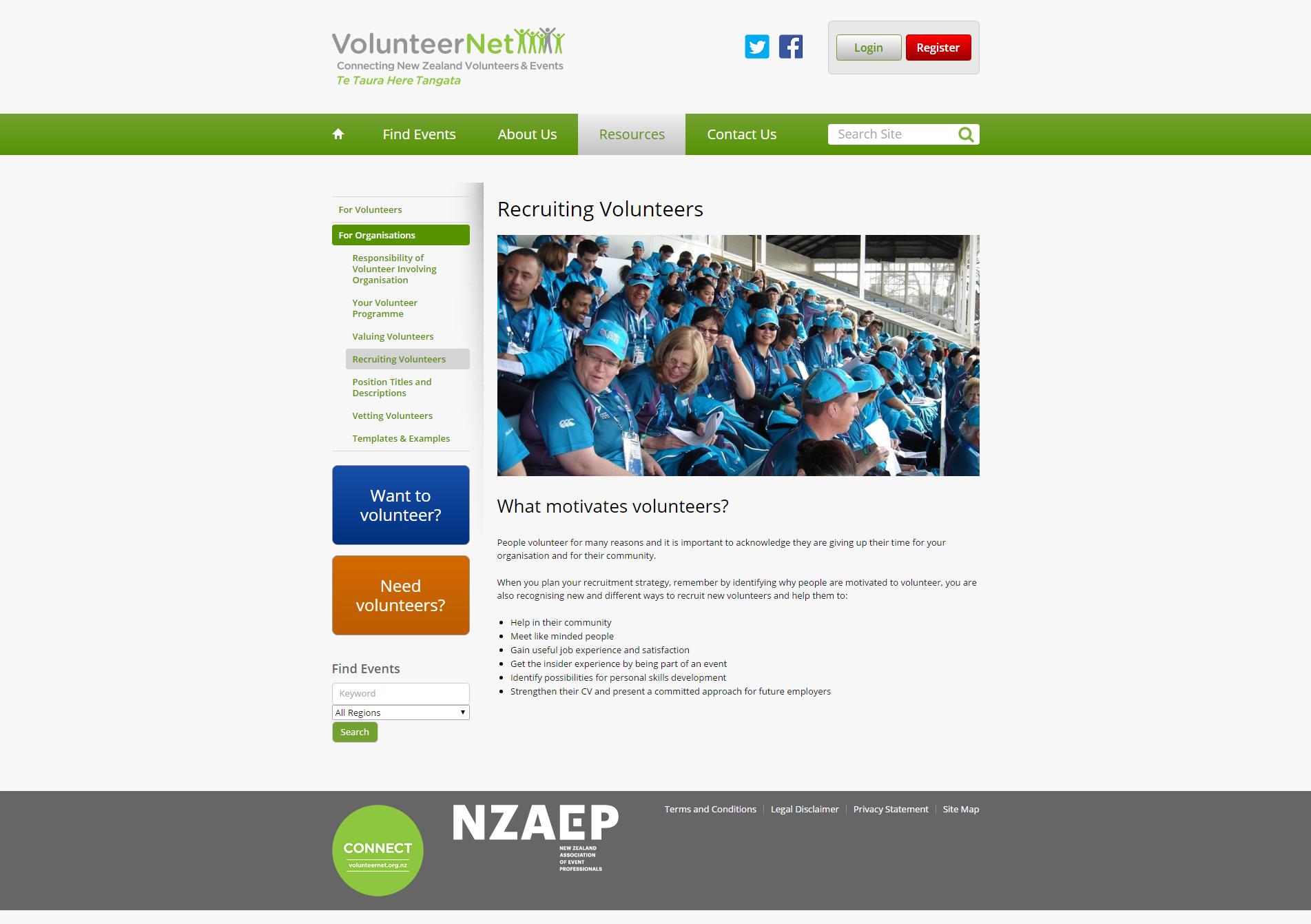 Recruiting Volunteers _ VolunteerNet