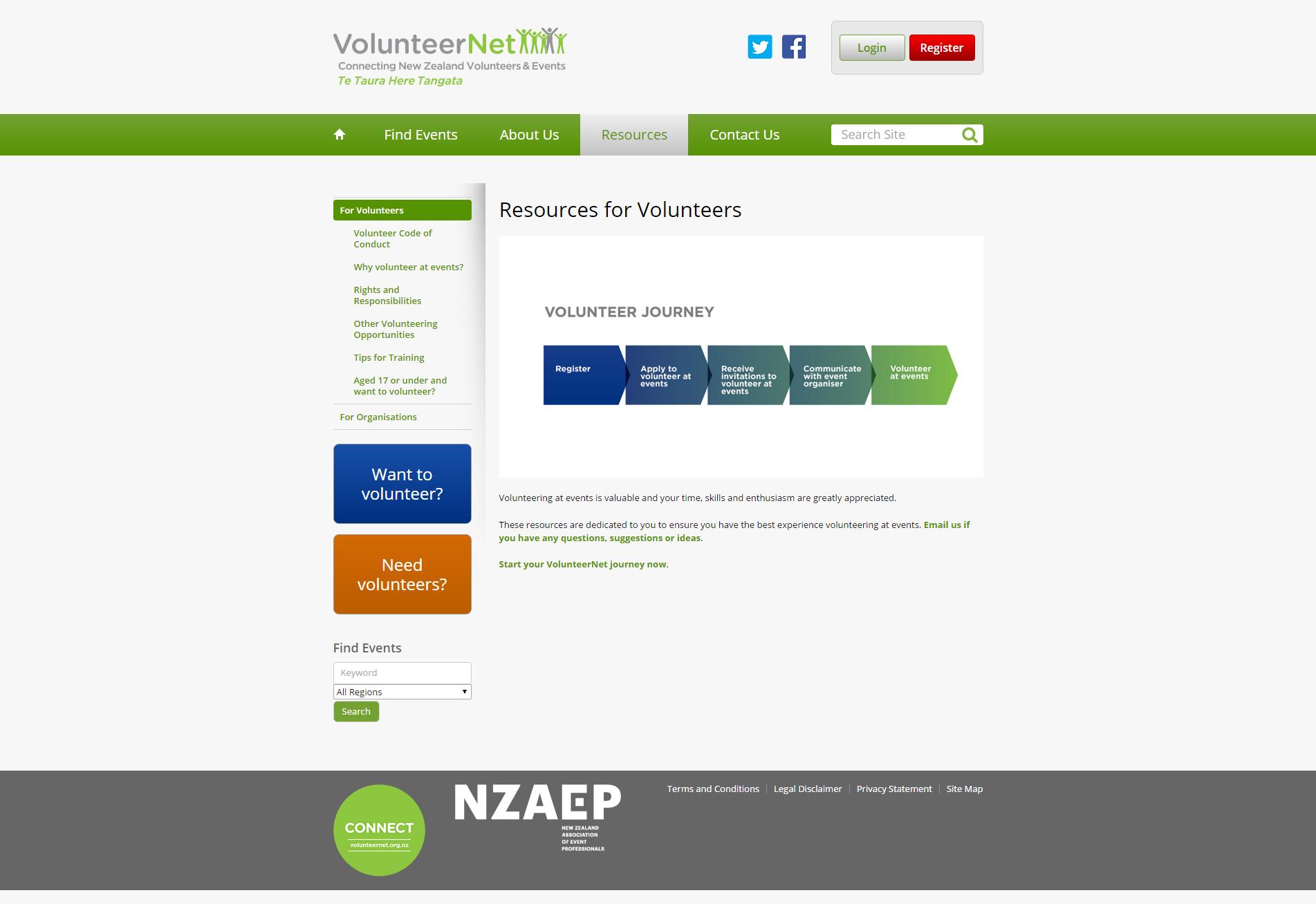 Resources for Volunteers _ VolunteerNet