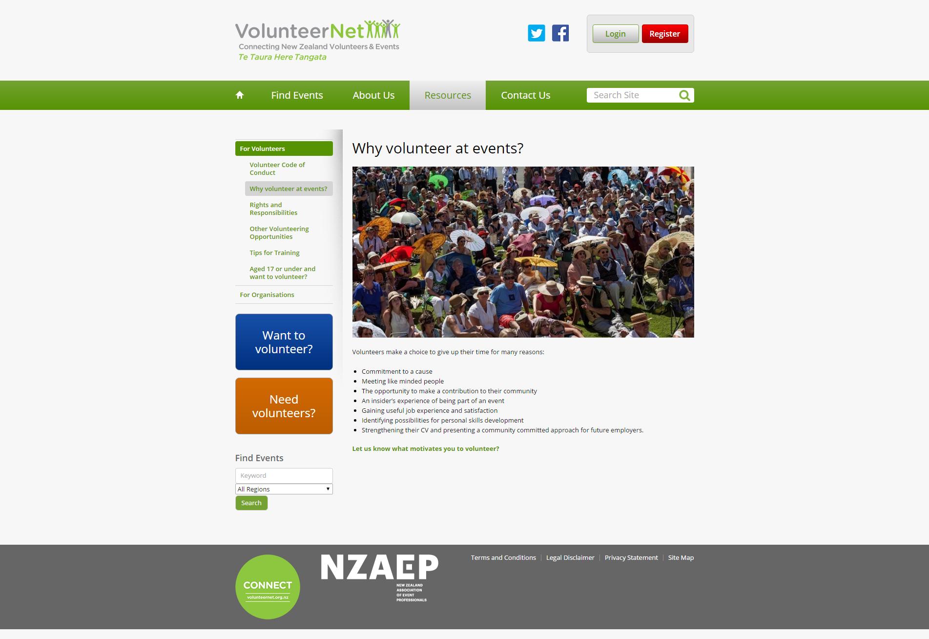 Why volunteer at events_ _ VolunteerNet